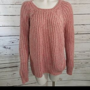 ⚡ OLD NAVY PINK CHUNKY LONG SLEEVED SWEATER large